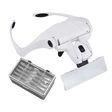 Óculos Lupa de Cabeça Pala 5 Lentes e 2 LED's