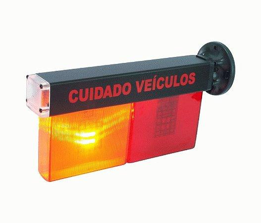 Sinaleira em LED - indicação audio visual - para saída de garagem ou estacionamento