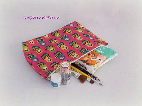 Kit para pintura de barriga - matrioskas com fundo rosa