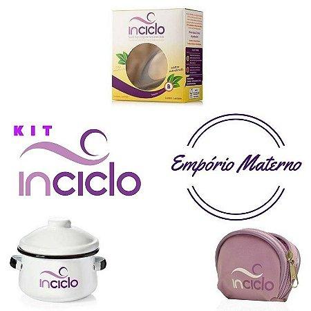 Kit Inciclo - coletor menstrual Inciclo, panela de ágata, porta-Inciclo