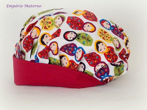 Toucas personalizada Matrioskas - SEM bordado - Confecção 3 dias úteis