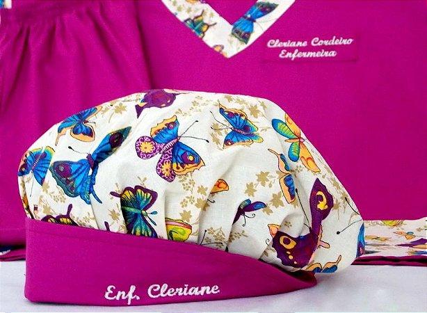 Toucas personalizada Borboletas I - Com bordado - Confecção 3 dias úteis