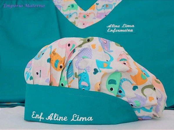 Toucas personalizada Elefantes- Com bordado - Confecção 3 dias úteis