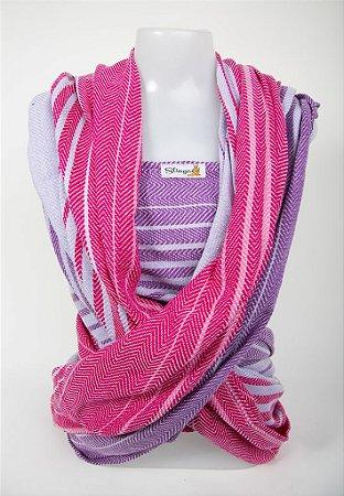 Wrap sling sarja esp. peixe - Rosa Mesclado