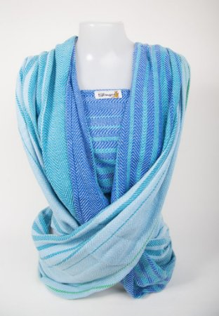 Wrap sling sarja esp. peixe  - Azul Mesclado