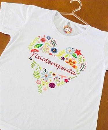 Baby Look personalizada - Coração Fisioterapeuta