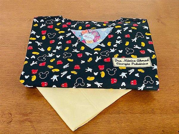 Pijama Cirúrgico - Gola V - Manga Japonesa  - Blusa Estampada Mickey 2 Lançamento  - Leia a Descrição