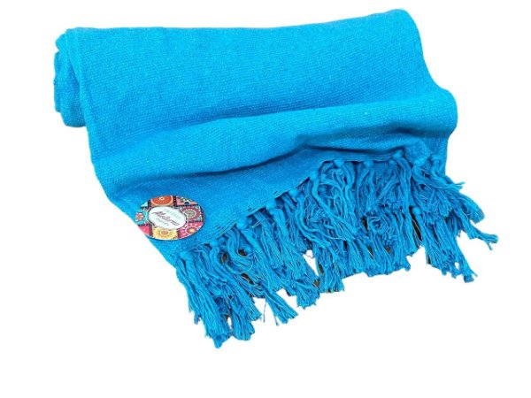 Rebozo Nacional - Azul turquesa sem detalhe