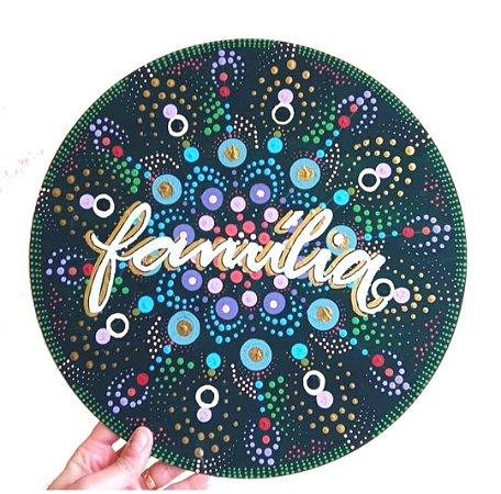 Mandala em MDF com lettering