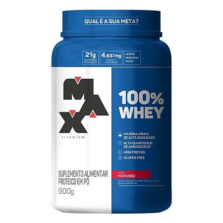 Whey 100% Max Titanium pote 900g