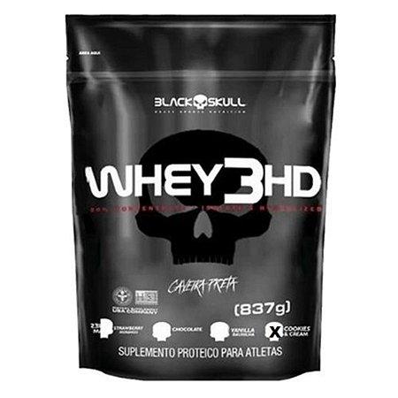 Refil Whey 3HD Black Skull - 837g