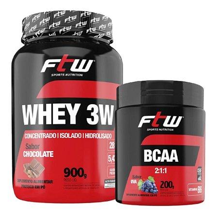 Combo FTW - Whey 3w 900g + BCAA 2:1:1 200g