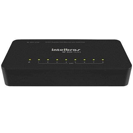Switch 8 Portas 10/100 Mbps Sf 800 Vlan Intelbras