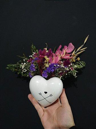 Arranjo Floral - Coração
