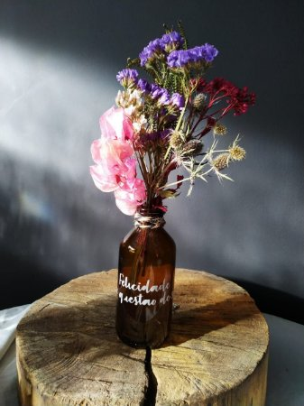 Garrafa Floral - Felicidade