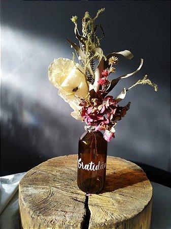 Garrafa Floral - Gratidão 2