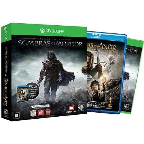 Xbox One Middle Earth: Shadow of Mordor[Totalmente em português + Filme em bluray: o Retorno do Rei]