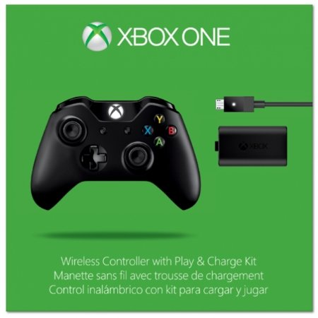 Xbox One Controle sem fio original microsof + play and charge kit