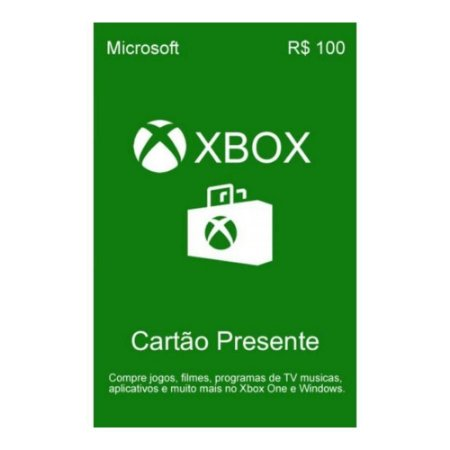 Xbox LIVE Gift Card R$100,00