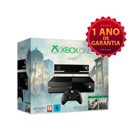 Xbox One 500gb + Kinect + Assassin's Creed IV Black Flag + Assassin's Creed Unity