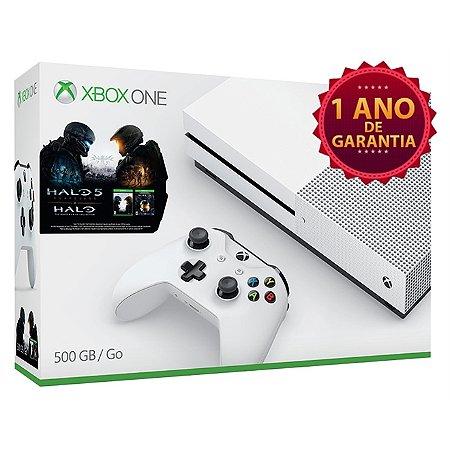 Xbox One Slim 500 GB [Incluso HALO 5 + Halo Master Chief Collection]
