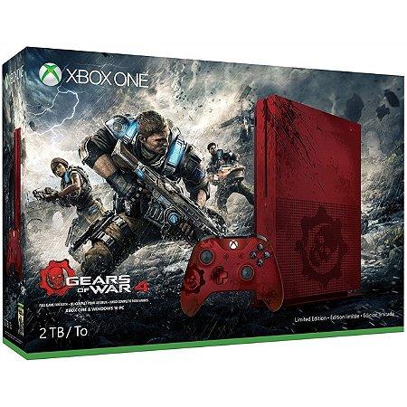 Xbox One Slim 2Tb Edição Especial Gears of War 4