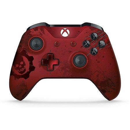 Xbox One Controle sem fio Gears of War 4 Crimson Omen Edição Limitada
