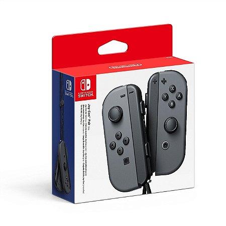 Switch Controle Joy-Con Direito e Esquerdo Cinza PAR
