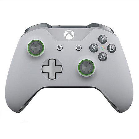 Xbox One Controle Sem Fio Modelo S Bluetooth Cinza e Verde