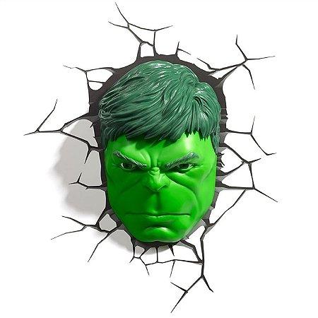 Luminária 3D Light FX Vingadores Rosto do Hulk