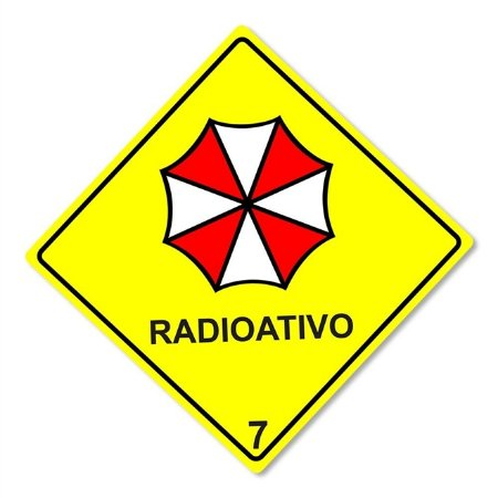 Placa Decorativa 30x30 Radioativo Umbrella