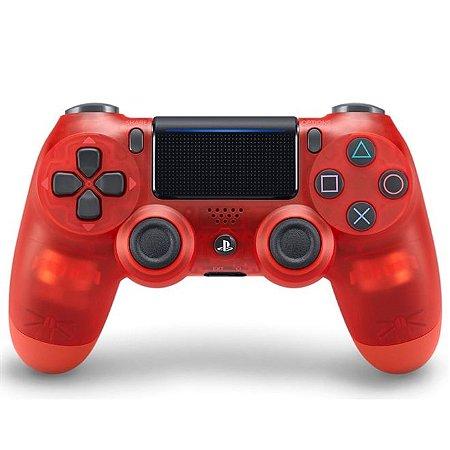 PS4 Controle Dual Shock 4 Vermelho Cristal