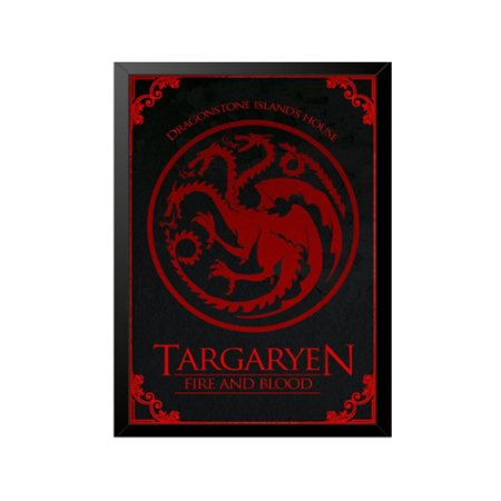 Quadro Targaryen Fire and Blood