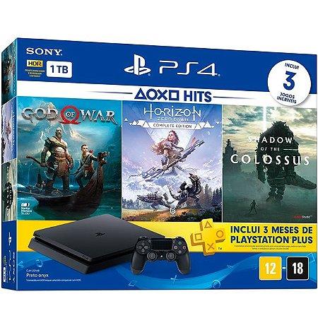 PlayStation 4 Slim 1 TB God of War + Horizon Zero Dawn + Shadow of the Colossus + 3 Meses PSN PLUS