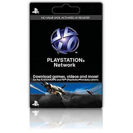 Cartão PSN PlayStation Network de U$ 50