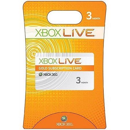 Xbox 360 3 Meses Assinatura Xbox Live Gold