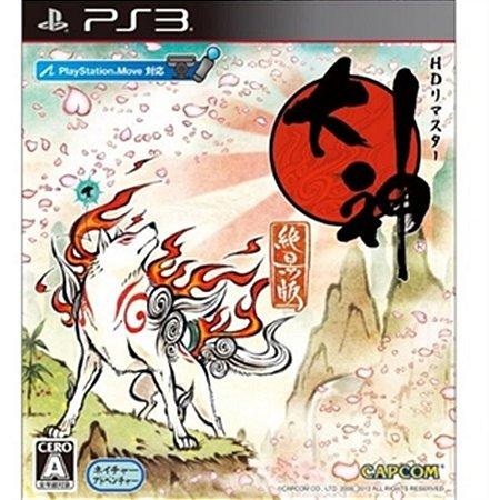 PS3 Okami HD remasterizado [Japonês, totalmente em inglês]