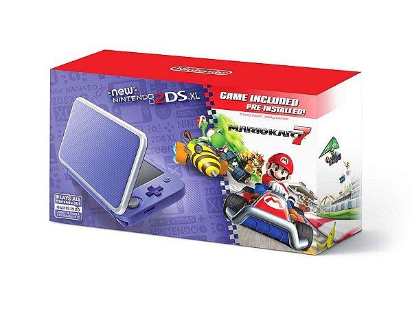 New Nintendo 2DS XL Roxo e Prata + Mario Kat 8