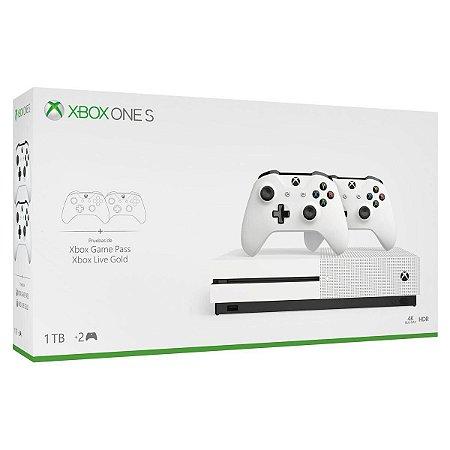 Xbox One S 1 TB Edição 2 Controles + 30 Dias Gamepass + 14 Dias Live Gold
