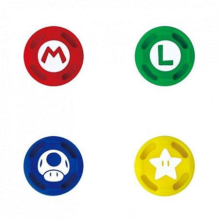 Par de Grips para controle Nintendo Switch varias cores