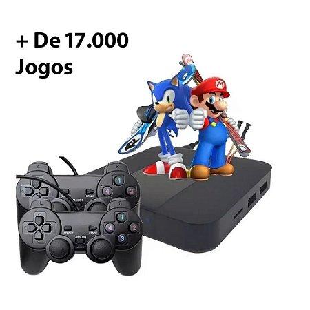 Retro Box 17.000+ Jogos com 2 Controles com fio