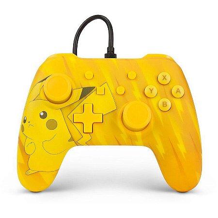 Switch Controle Com Fio Pikachu Power A