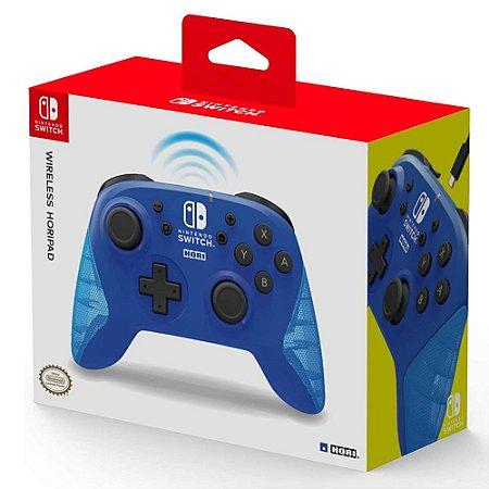 Switch Controle Sem Fio Horipad Azul
