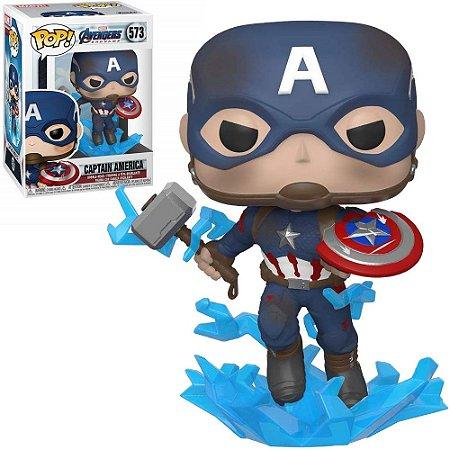 Funko Pop Marvel Avengers Endgame Captain America (With Mjolnir) 573