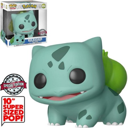 "Funko Pop Pokémon Bulbasaur 10"" Super Sized 454"