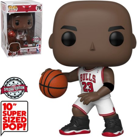 "Funko Pop NBA Bulls Michael Jordan 10"" Super Sized 505"