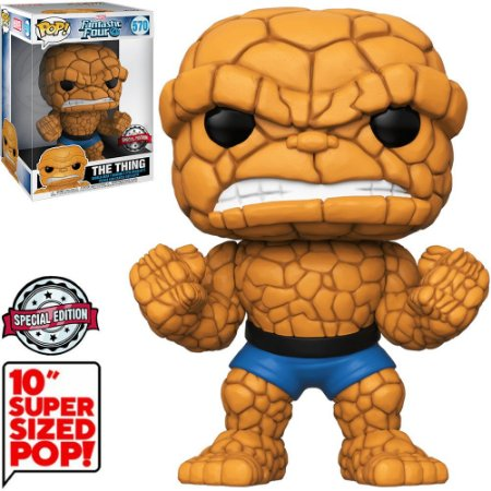 "Funko Pop Marvel Fantastic Four 4 The Thing 10"" Super Sized 570"