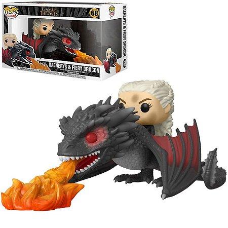 Funko Pop Rides Game of Thrones Daenerys & Fiery Drogon 68