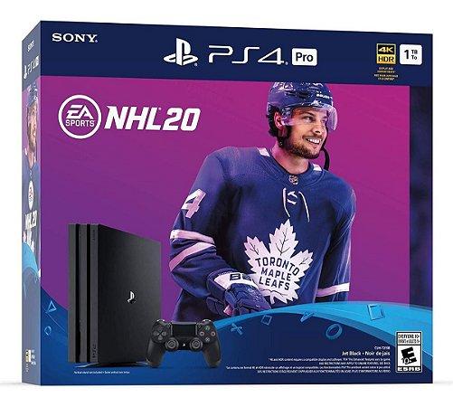 Playstation 4 Pro 1TB Preto + NHL 20