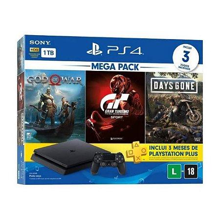 Playstation 4 Slim 1TB God of War + Gran Turismo + Days Gone + 3 Meses Playstation Plus